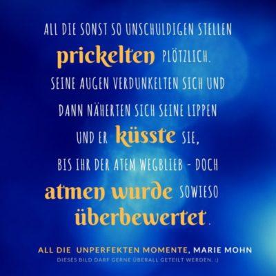 Schnipselbilder - aus dem New Adult Liebesroman All die unperfekten Momente
