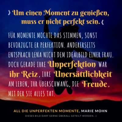 Leseprobe New Adult Liebesroman All die unperfekten Momente